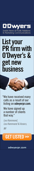 List Your PR Firm With O'Dwyer's and Pick Up New Business!