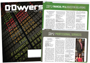 O'Dwyer's August Financial PR/IR & Prof. Svcs. Magazinene