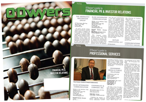 O'Dwyer's Aug. '15 Financial/IR and Professional Services PR Magazine