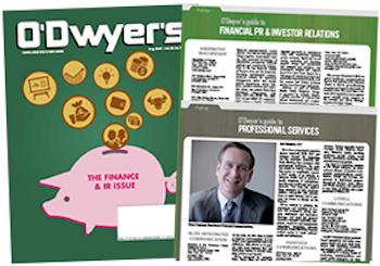 O'Dwyer's August '16 Financial PR/IR & Professional Services PR Magazine