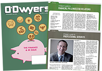 O'Dwyer's August '16 Finacial PR/IR & Professional Services PR Magazine