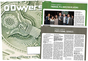 O'Dwyer's Aug. '17 Financial PR/IR & Professional Services PR Magazine