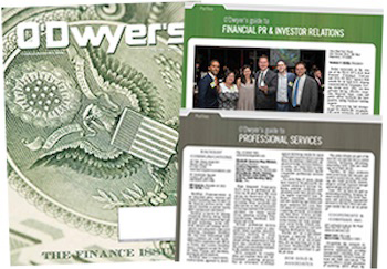 O'Dwyer's August '17 Finacial PR/IR & Professional Services PR Magazine
