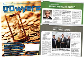O'Dwyer's Aug. '18 Finacial PR/IR & Prof. Svcs. PR Magazine