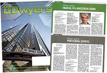 O'Dwyer's Aug. '19 Financial PR/IR & Prof. Svcs. PR Magazine