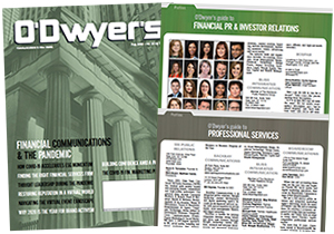 O'Dwyer's Aug. '20 Financial PR/IR & Prof. Svcs. PR Magazine