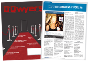 O'Dwyer's December Entertainment & Sports PR Magazine