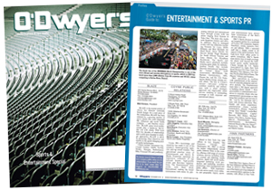 O'Dwyer's Nov. '14 Entertainment & Sports PR Magazine