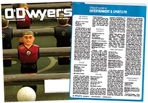 O'Dwyer's August '16 Financial PR/Investor Relations and Professional Services PR Magazine