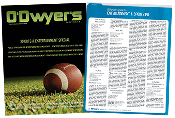 O'Dwyer's Dec. '17 Entertainment & Sports PR Magazine