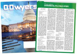 O'Dwyer's Feb. '16 Environmental PR & Public Affairs Magazine