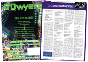 O'Dwyer's Jan. '15 PR Buyer's Guide/Crisis Communications MagazineMagazine
