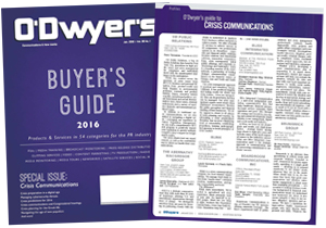 O'Dwyer's Jan. '16 PR Buyer's Guide and Crisis Communications Magazine