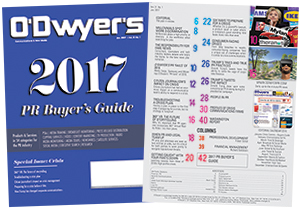 O'Dwyer's 2017 PR Buyer's Guide
