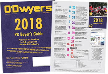 O'Dwyer's 2018 PR Buyer's Guide