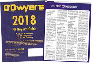 O'Dwyer's Jan. '18 PR Buyer's Guide & Crisis Communications Magazine