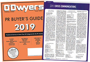 O'Dwyer's Jan. '19 PR Buyer's Guide & Crisis Communications Magazine