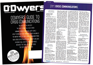 O'Dwyer's Jan. '20 Crisis Communications & PR Buyer's Guide