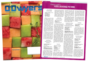 O'Dwyer's March Food & Beverage PR Magazine