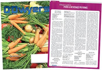 O'Dwyer's Mar. '18 Food & Beverage PR Magazine
