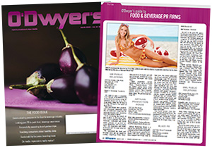 O'Dwyer's Mar. '20 Food & Beverage PR Magazine
