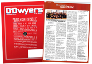 O'Dwyer's May '15 PR Firm Rankings Issue