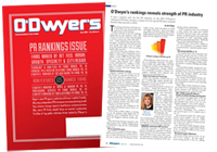 O'Dwyer's May '15 PR Firm Rankings Magazine