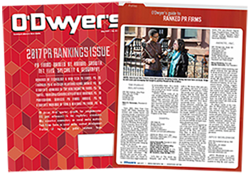 O'Dwyer's May '16 PR Firm Rankings Magazine