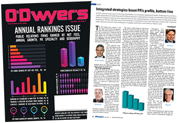 O'Dwyer's PR Firm Rankings Magazine