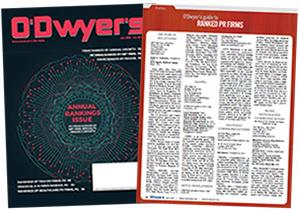 O'Dwyer's May '19 PR Firm Rankings Magazine