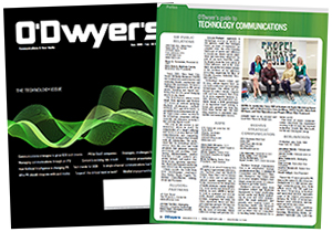 O'Dwyer's Nov. '19 Technology PR Magazine