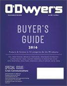O'Dwyer's January PR Buyer's Guide