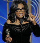 Oprah Winfrey at Golden Globes