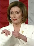Nancy Pelosi tears up SOTU speech
