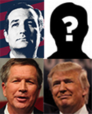 Donald Trump, Ted Cruz, John Kasich, Mystery Man