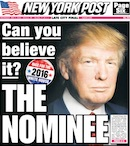 New York Post cover with Donald Trump