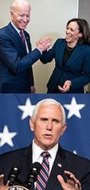 Joe Biden, Kamala Harris & Mike Pence