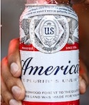 In-Bev's America Budweiser beer can