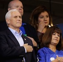 Mike Pence at Indianapolis Colts game