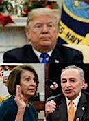 Donald Trump, Chuck Schumer, Nancy Pelosi
