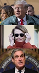 Donald Trump, Nancy Pelosi & Robert Mueller
