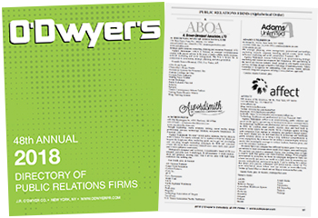 O'Dwyer's 2018 Directory of PR Firms