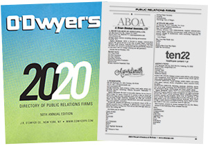 O'Dwyer's 2020 Directory of PR Firms