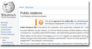 wikipedia pr