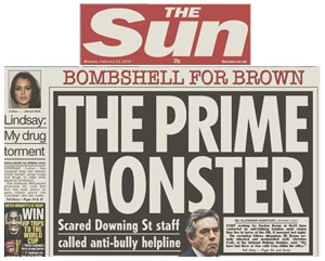 Gordon Brown, Prime Monster