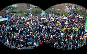 occupy wall street binoculars
