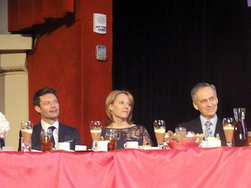 Ryan Seacrest, Jacki Kelley, Tom Curley