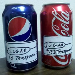coke, pepsi sugar