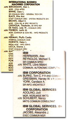 IBM, PRSA memberships