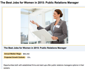 PR Manager Among Top Jobs for Women